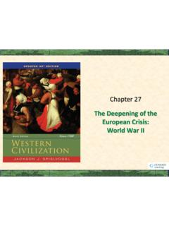 The Deepening of the European Crisis: World War II