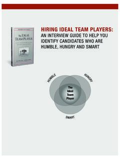 AN INTERVIEW GUIDE TO HELP YOU IDENTIFY CANDIDATES …