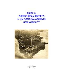 Guide to Puerto Rican Records in the National Archives at ...