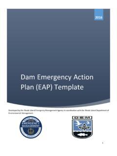 Dam Emergency Action Plan Eap Template Rhode Island Emergency Action Plan Template Pdf4pro
