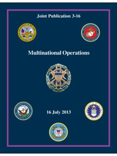 JP 3-16, Multinational Operations