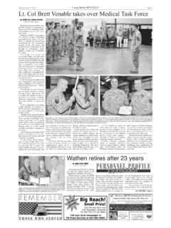 Camp Shelby REVEILLE Page 3 Lt. Col Brett Venable takes …