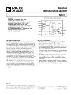 a Instrumentation Amplifier Precision AD624 - analog.com