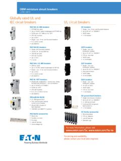 Globally rated UL and IEC circuit breakers UL circuit breakers