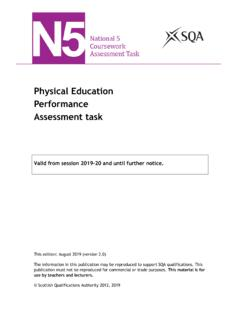 Physical Education Performance Assessment task - SQA