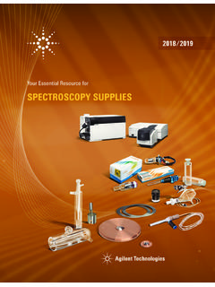 Your Essential Resource for SPECTROSCOPY SUPPLIES