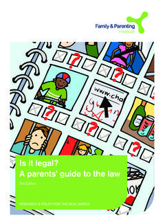 Is it legal? A parents' guide to the law