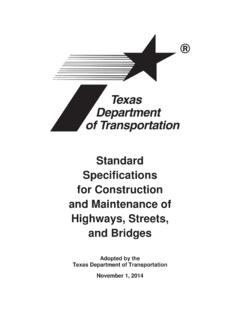 2014 Standard Specifications for Construction and ...