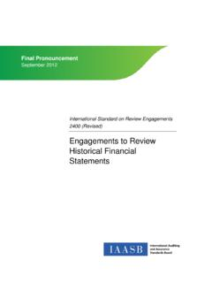 Engagements to Review Historical Financial Statements