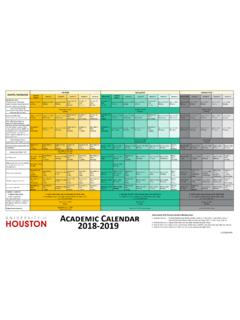 Academic Calendar - University of Houston
