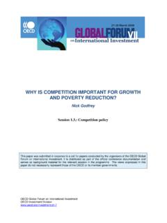 WHY IS COMPETITION IMPORTANT FOR GROWTH …