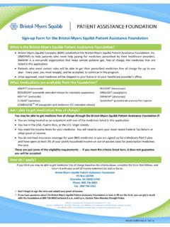 Sign-up Form for the Bristol-Myers Squibb Patient ...