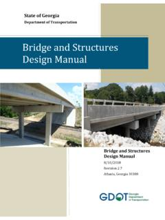 Bridge and Structures Design Manual - Welcome to The GDOT