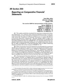Reporting on Comparative Financial Statements - …