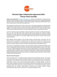 Pluristem Signs Collaboration Agreement With Thermo Fisher ...