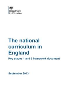 The national curriculum in England - Framework document