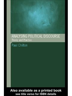Analysing Political Discourse - Void Network
