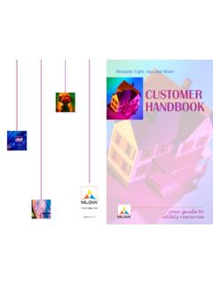 CUSTOMER HANDBOOK - Welcome to MLGW on the Web