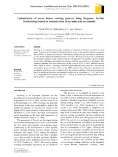 Optimization of cocoa beans roasting process …