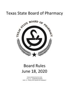 Texas State Board of Pharmacy