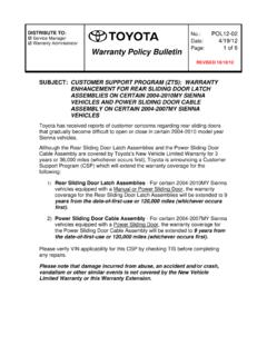 Warranty Policy Bulletin 1 of 6 - Fixed-Ops