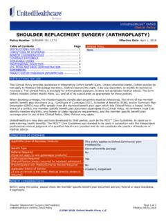 Shoulder Replacement Surgery (Arthroplasty) - OXHP
