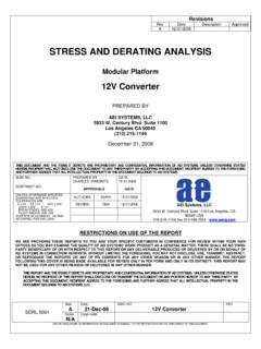 STRESS AND DERATING ANALYSIS - AEi Systems