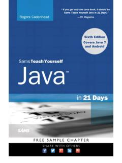 Sams Teach Yourself Java in 21 Days (Covering Java 7 and ...