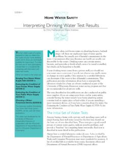 Interpreting Drinking Water Test Results