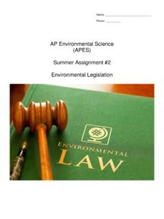 AP Environmental Science (APES) Summer Assignment #2 ...