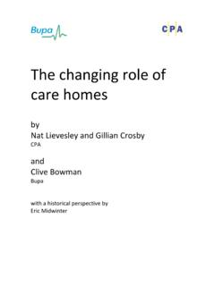 The changing care homes - CPA