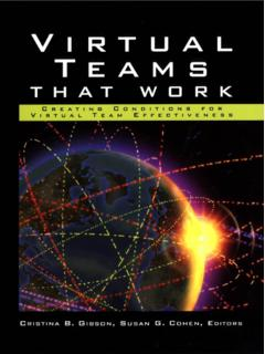 SS Virtual Teams That Work - Communication Cache