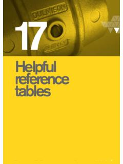 Reference Tables - GV K