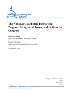 The National Guard State Partnership Program: Background ...