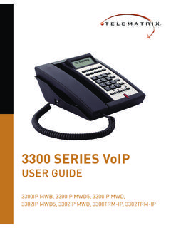 3300 SERIES VoIP - TeleMatrix Hotel Phones