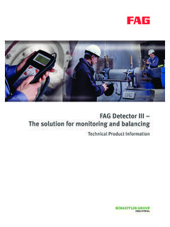 FAG Detector III – The solution for monitoring and balancing