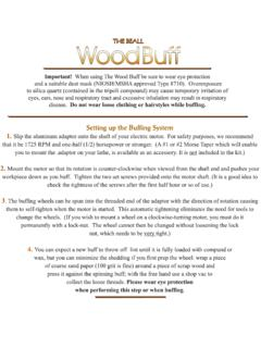 Wood Buff Instructions 1 - Beall Tool
