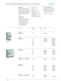 2P & 4P RCCBs (Residual Current Circuit Breakers)