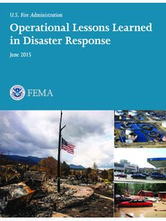 Operational Lessons Learned in Disaster Response