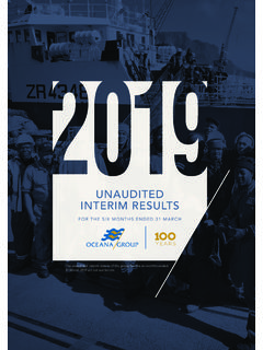 UNAUDITED INTERIM RESULTS - oceana.co.za