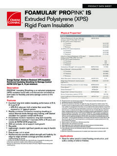 Foamular ProPink Insulating Sheathing Product …