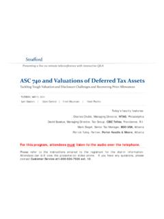 ASC 740 and Valuations of Deferred Tax Assets