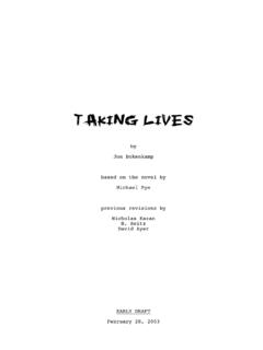 Taking Lives - Daily Script - Movie Scripts and Movie ...
