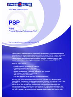 Physical Security Professional (PSP)