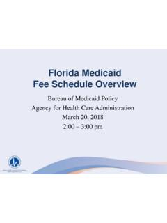 Florida Medicaid Fee Schedule Overview