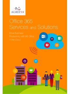 Office 365 Brouchure - AgreeYa Solutions