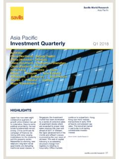Asia Pacifi c Investment Quarterly - pdf.savills.asia