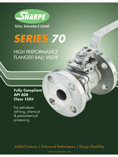 SERIES 70 - Sharpe® Valves
