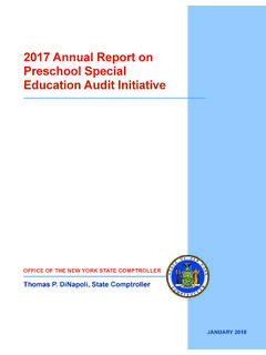 2017 Annual Report on Preschool Special Education Audit ...