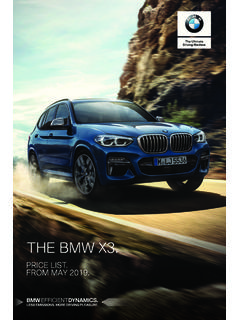 THE BMW X3. - bmw.co.uk